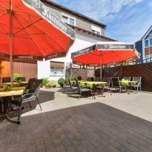 Hotel Restaurant Hessischer Hof Kirchhain - Sonnenterrasse